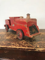 Vintage Red Toy Train Circa: 1930's