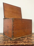 Decorative Antiques - Antique pine box, with original brass fixtures. Circa: 1940's