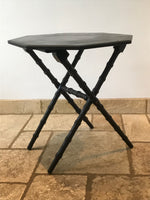 Victorian ebonised occasional table from the Aesthetic Movement. Bobbin style legs with octagonal shape top. Made from Mahogany. Circa: 1890's