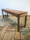 Large Antique Pine Table - Long Console Table