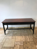 Large Vintage School Science Lab Teak Table