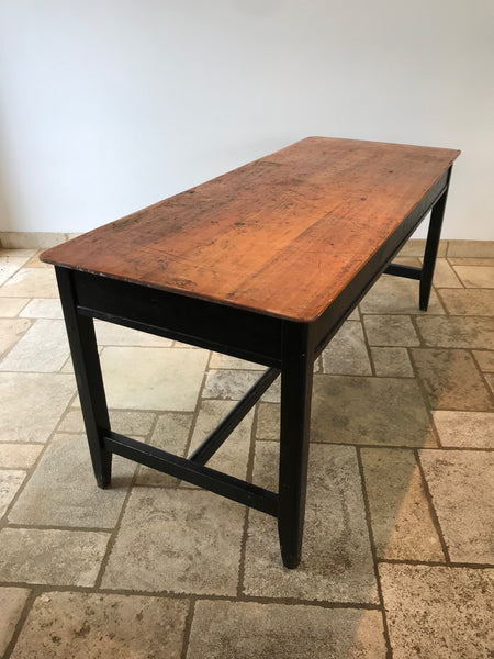 Large Vintage School Table - Double Sided Top