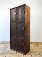 Decorative Antiques - English Wooden Lockers. Salvaged from a school in Cornwall. Original brass fixtures. Circa: 1950's.
