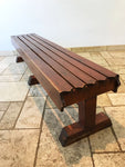 Decorative Antiques - Vintage 7FT pine double sided bench. Circa: 1950's