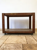 Vintage English Wooden School Trolley