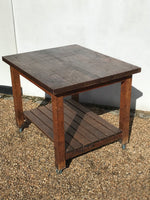 English Slatted Table on Casters