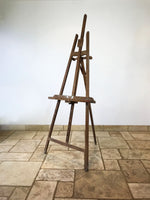 Decorative Antiques - Early French picture easel. Adjustable height via metal grooves. Splatters of original paint. Circa: 1920's
