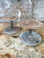Decorative Antiques - x2 Vintage metal potters wheels available. Full of used character and turn well. Circa: 1980's.