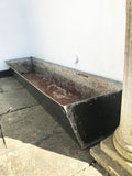 Vintage Metal Garden Planter Black Trough