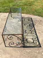 Pair of Wrought Iron and Glass Display Stands