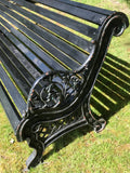 Pair of Victorian Cast Iron Promenade Benches - 8FT