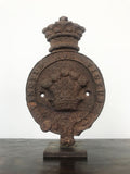 Cast Iron Fleur De Lys and Crown Plaque