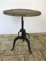 Adjustable Cast Iron Round Table