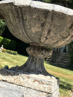 Victorian Cast Iron Urn on Plinth