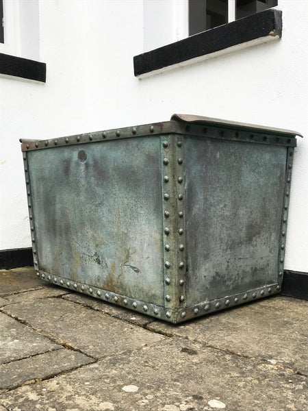 Riveted Galvanised Planter