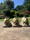 Weathered Lion Heads Plant Pot Feet
