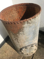 Galvanised Tall Riveted Planter