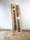 Original Shop Advertising Wooden Sign