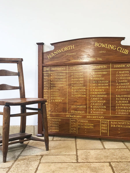 Bowling Clubs Honour Board