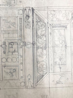 Pencil Illustration of Ivory Casket by Amor Fenn