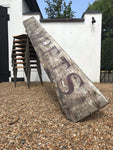 Large Antique Wooden Hand Painted Shop Sign