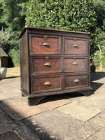 Antique Large Solid Oak Victorian Chest