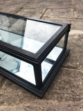 Black Mirrored and Glass Metal Display Cabinet