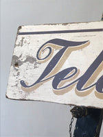 Vintage Wooden Telephone Sign