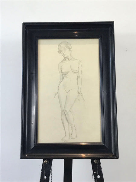 Pencil Drawing of a Female Nude
