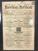 Framed Newspaper 1905