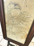 Antique Framed Eagle