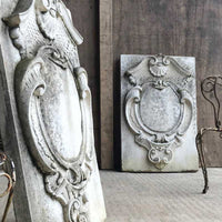 Pair of Weathered Stone Garden Plaques