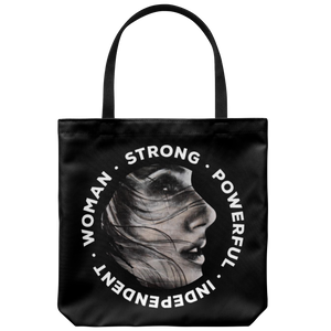 Be Beautiful Strong Tote Bag Black