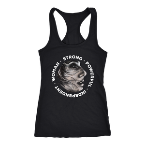 Be Beautiful Strong Racerback Tank
