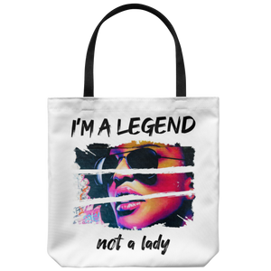 Be a Legend Tote Bag White
