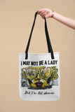 Hippy Chick Tote Bag White