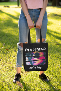 Be a Legend Tote Bag Black