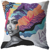 Love is Color Throw Pillow