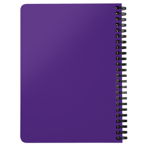 Be A Legend Spiral Notebook Purple