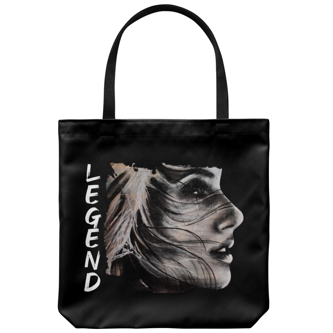 Be Beautiful Tote Bag Black