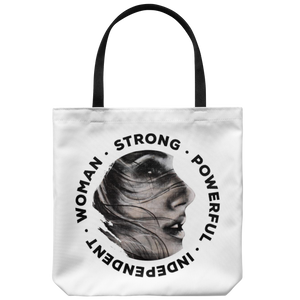 Be Beautiful Strong Tote Bag White