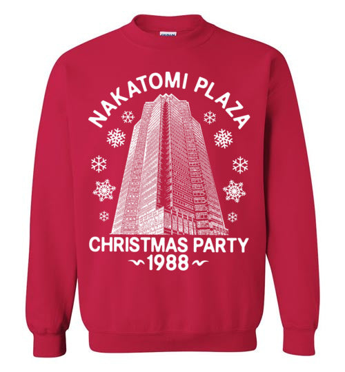 Nakatomi Plaza, Die Hard, Christmas Party 1988 - Gildan Crewneck Sweatshirt