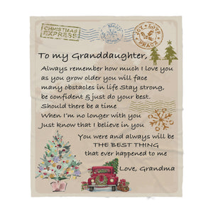 201104 Blanket Christmas Gift Ideas for Granddaughter To My Granddaughter Always Remember How much I Love You As You Grow Older - Sherpa Blanket