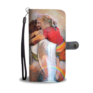 First Day in Heaven - The Hand Of God - Hug of Jesus - Phone Wallet Case