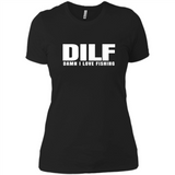 Mens Damn I Love Fishing DILF Fathers Day Gift