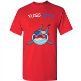 Floss Like A Boss Dance Shirt Shark Flossing 4th Of July