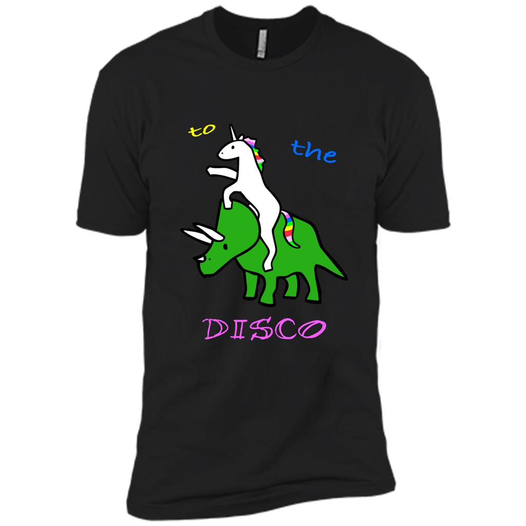 To The Disco Unicorn Riding Triceratops