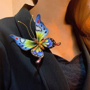 Hand Embroidery Colorful Butterfly Brooch Pin Fashion Accessories Gift Ideas