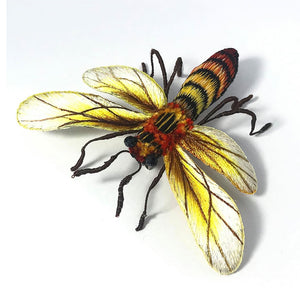 Hand Embroidery Honey Bee Brooch Pin Fashion Accessories Gift Ideas