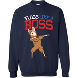 Floss Like A Boss Dance Flossing Llama 4th Of July Kid